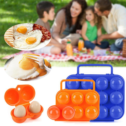 Ourdoor Portable Folding Egg Storage Case Plastic Shockproof Egg Holder Foldable | Edlpe