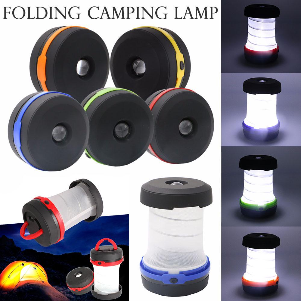 Protable Led Camping Lamp Retractable Tent Lantern Hiking Outdoor Flashlight | Edlpe