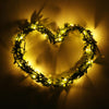 Image of Leaf Garland Battery Operate Copper Led Fairy String Lights Wedding Party Decor | Edlpe