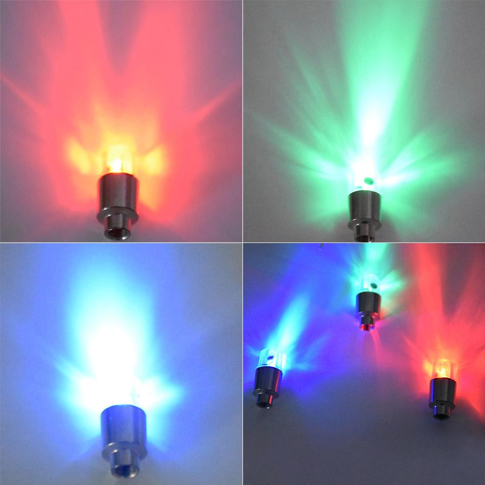 4Pcs 2Pcs Led Wheel Tyre Tire Air Valve Stem Caps Decoration Light Lamp | Edlpe