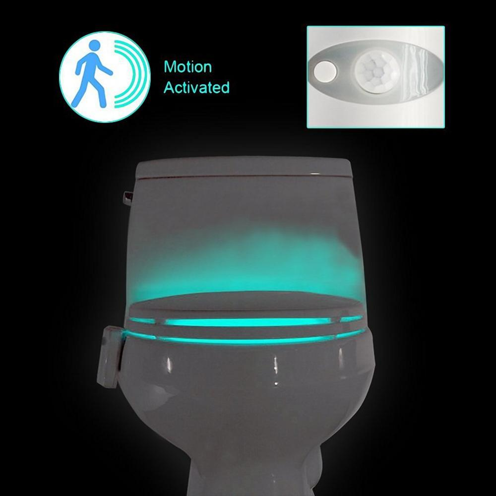 8 Colors Led Toilet Night Light Body Sensing Motion Sensor Bathroom Bowl Lamp | Edlpe