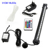 Image of Waterproof Air Bubble Lamp Remote Control Led Aquarium Fish Tank Light/16Cm 26Cm 31Cm 46Cm 5050 Rgb | Edlpe