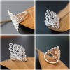 Image of Women Hollow Shape Wedding Engagement Bridal Princess Ring Jewelry Thumb Band | Edlpe