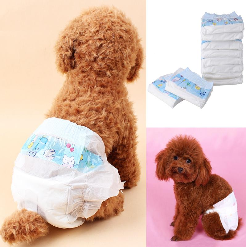 10Pcs Disposable Pet Dog Puppy Cat Diaper Nappy Pads Physical Sanitary Panty | Edlpe