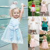 Image of Toddler Baby Girl Floral Lace Skater Dress Wedding Bridesmaid Party Princess Tutu Dress | Edlpe