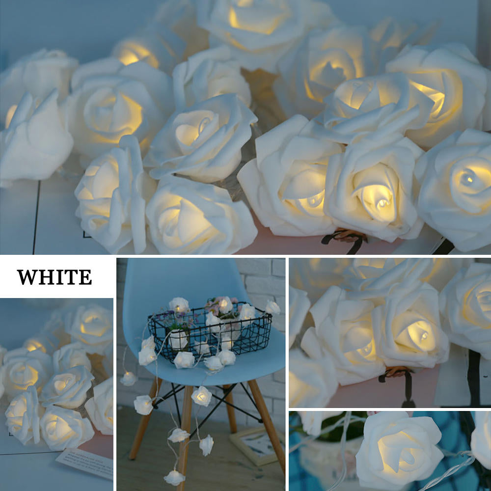 Battery Or Usb Power Rose Flower Led String Lights For Home Party Wedding Decor | Edlpe