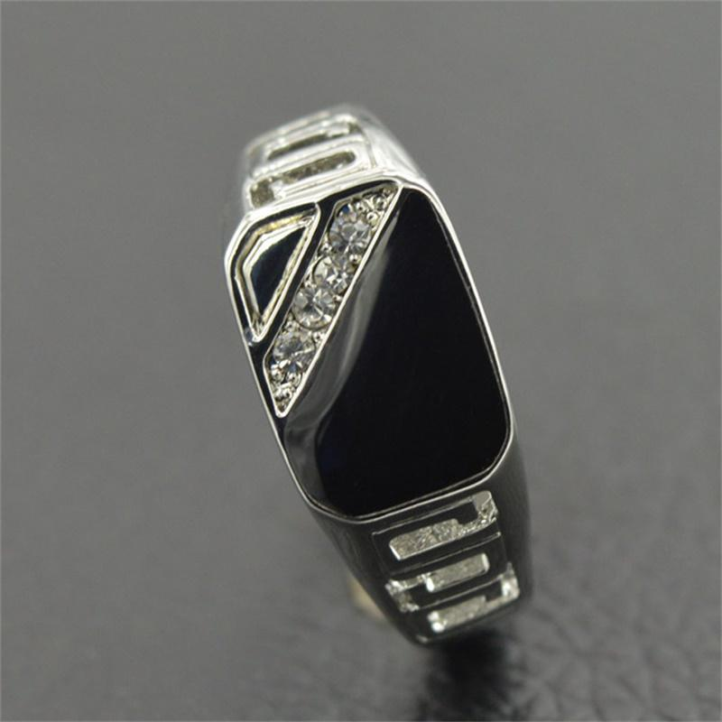 Classic Rings For Men Inlay Antique Cubic Zirconia Engagement Wedding Bands | Edlpe