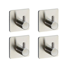 1-3X Adhesive Kitchen Wall Door Stainless Steel Stick Holder Hook Hanger Holder | Edlpe