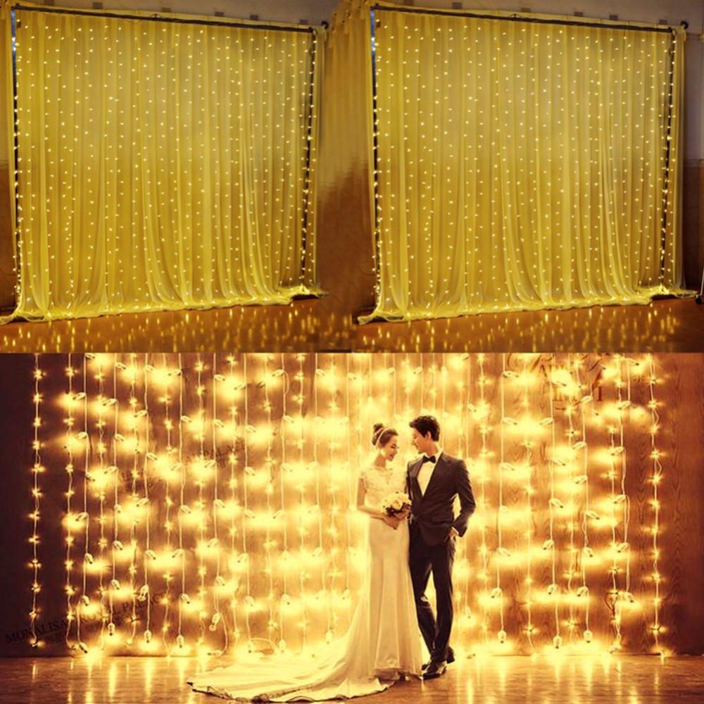 3M X 3M 306Leds 29V 31V Safe Voltage Led String Curtain Waterfall Lights For Party Home Living Room | Edlpe