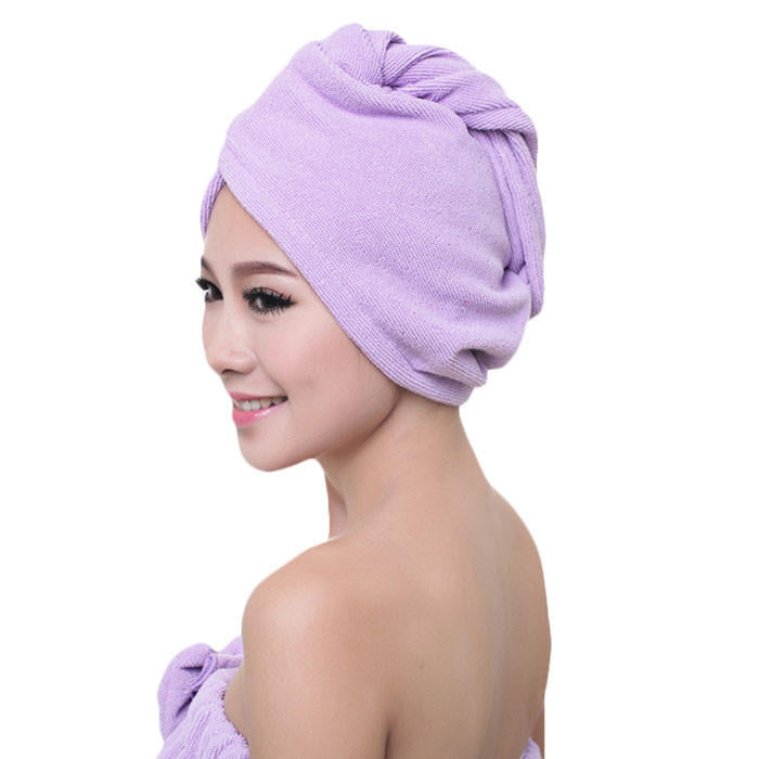 60X25Cm Microfibre After Shower Hair Wrap Towel Quick Dry Hat Cap Turban | Edlpe