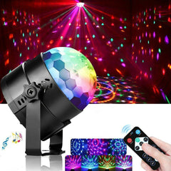 Remote Control Party Disco Ball Lamp USB Power RGB LED Stage Light