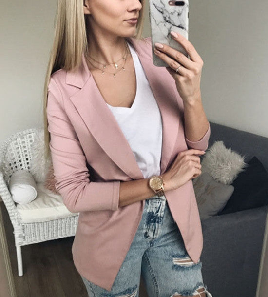 Women Long Sleeve Cardigan Casual Blazer Suit Jackets Coat Outwear Tops | Edlpe