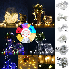 10/20/30/40/50/100 LED Globe Festoon Party Fairy String Lights Xmas Hanging Garland Decor Lamp