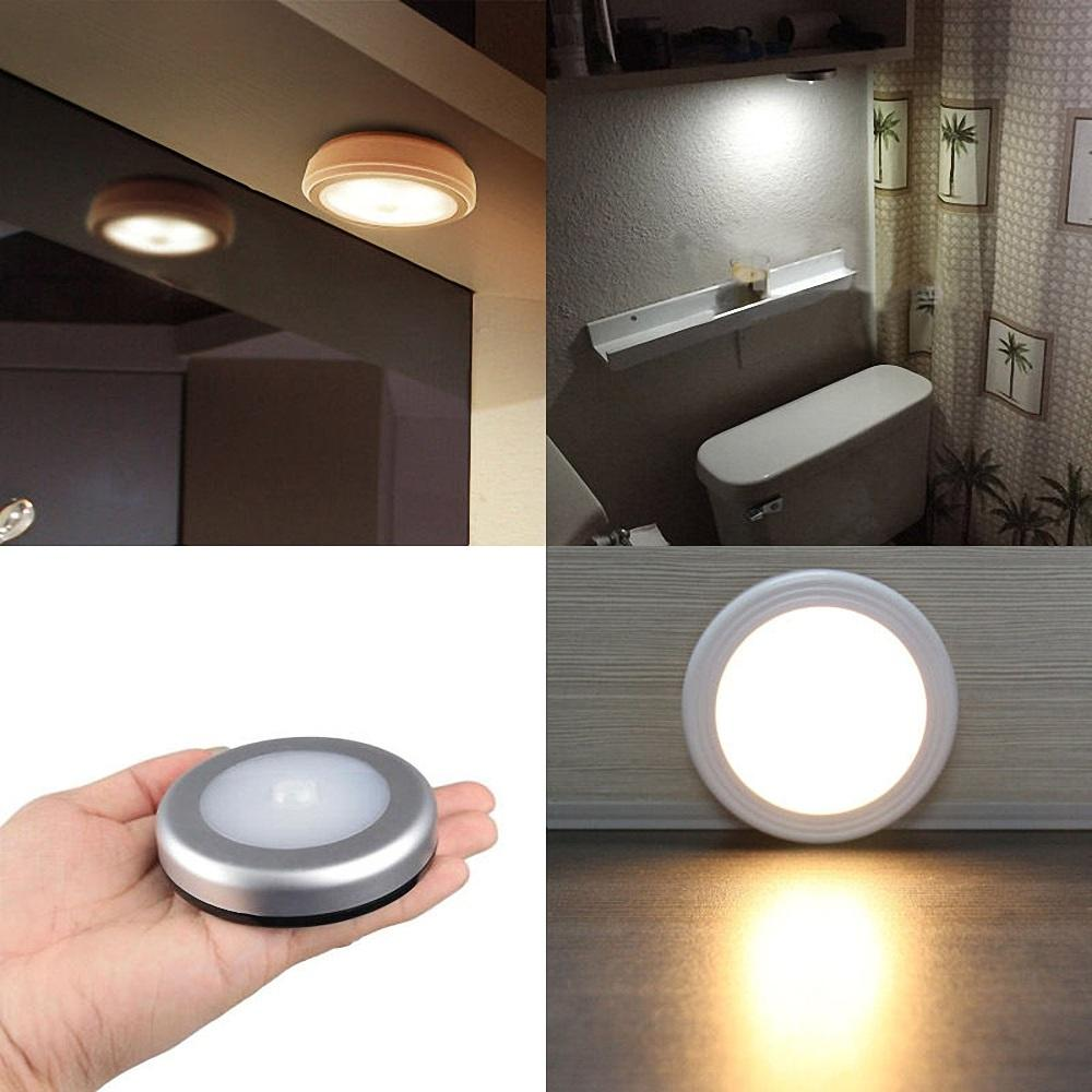 6 Led Light Pir Wireless Auto Sensor Motion Detector Lamp Wall Cabinet Night Hot | Edlpe