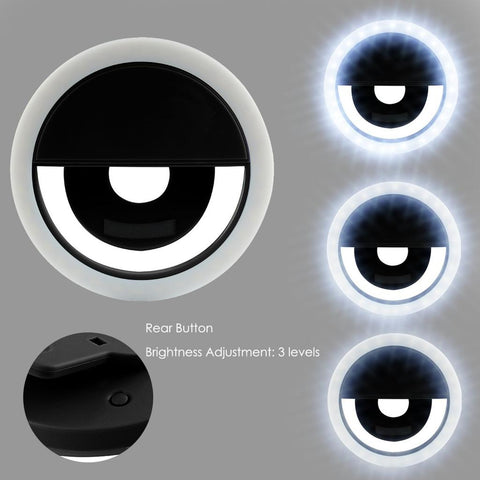 Rechargeable Led Ring Fill Light Selfie Light For Iphone Android Phone Usb Cable | Edlpe