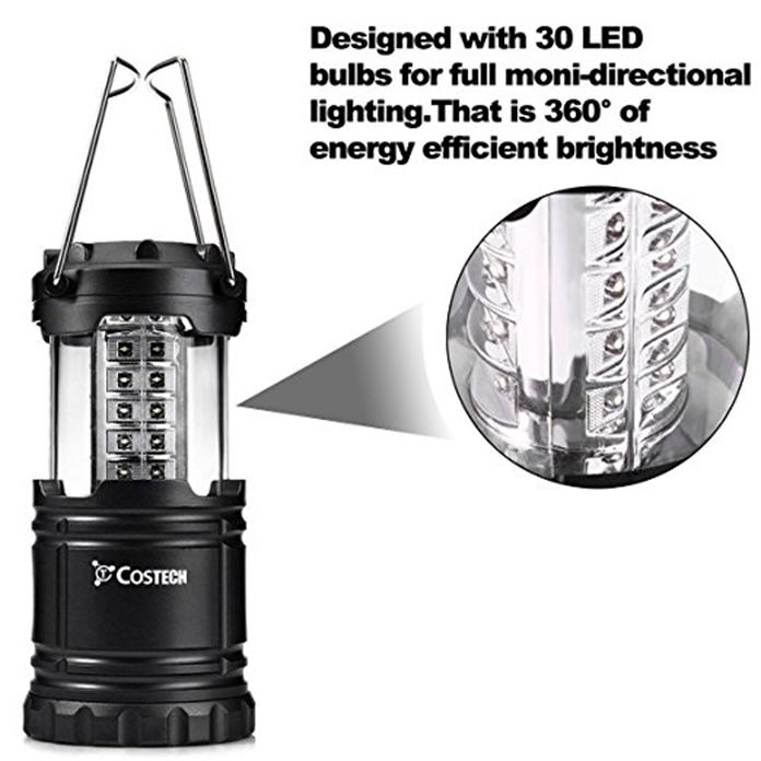 Collapsible 30 Led Lightweight Portable Camping Lantern Hanging Tent Flashlight Light | Edlpe