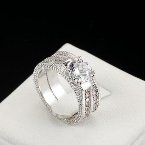 Rings Set For Women Engagement Wedding Band Cubic Zirconia Jewelry Gifts For Women | Edlpe
