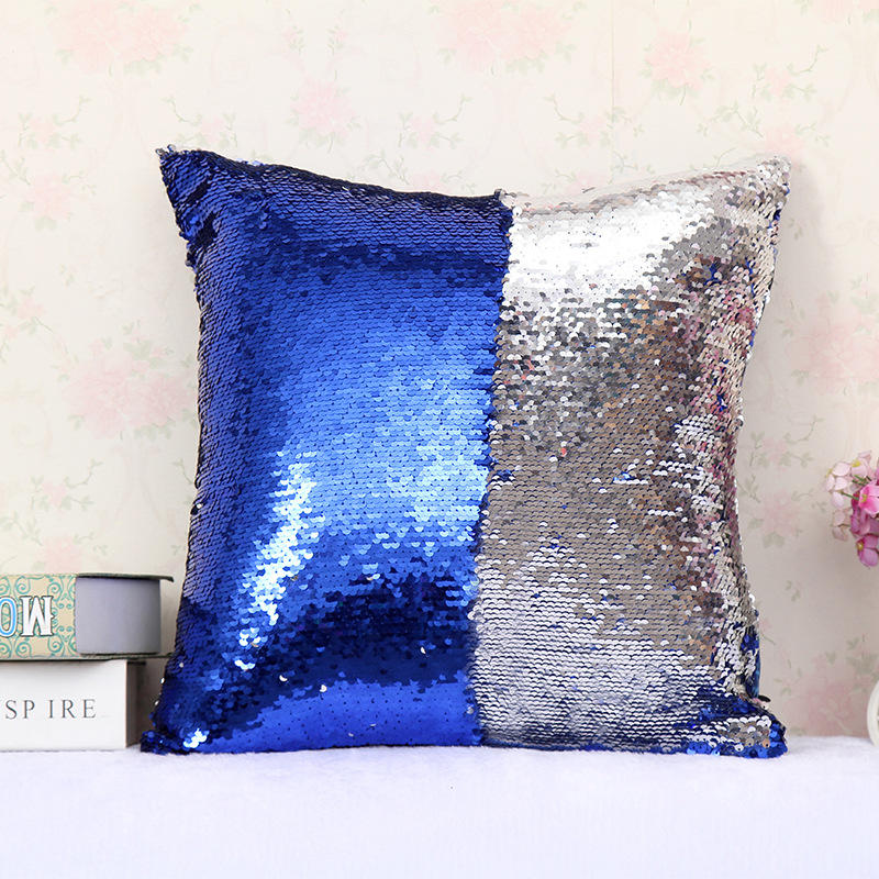 Mermaid Sequin Pillowcase Magical Color Changing Rever Home Decor Cushion Cover | Edlpe