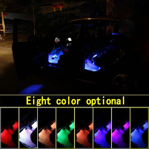 4In1 9Leds Rgb Full Color Interior Car Under Dash Footwell Strip String Lights | Edlpe
