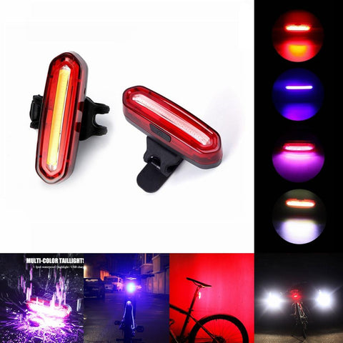 Super Bright Bike Tail Led Light Usb Rechargeable Safety Warning Lamp | Edlpe
