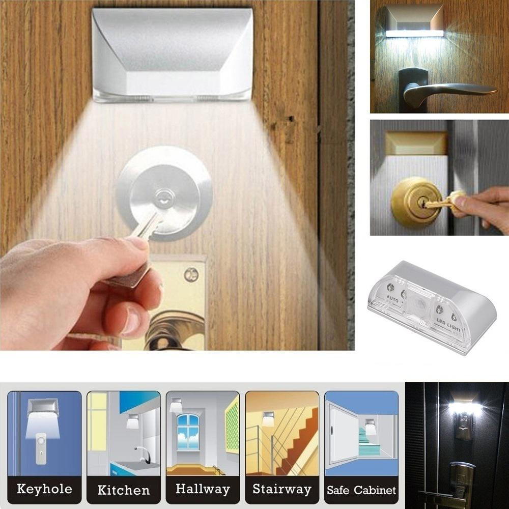 Pir Infrared Ir Wireless Auto Sensor Motion Detector Keyhole 4 Led Light Lamp | Edlpe
