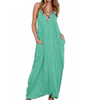 Image of Womens Loose Maxi Dress Sling Polka Dot Pocket V-Neck Summer Casual Long Dress Plus Size S-5Xl | Edlpe