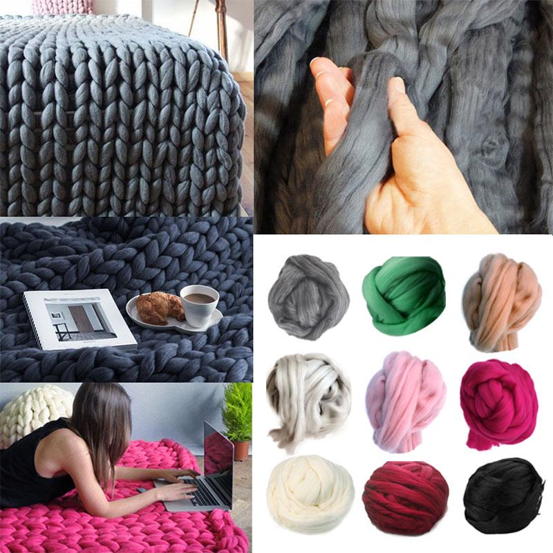 8Cm Thick Icelandic Wool Sweater Chunky Wool Yarn Diy Super Bulky Arm Knitting Blanket | Edlpe