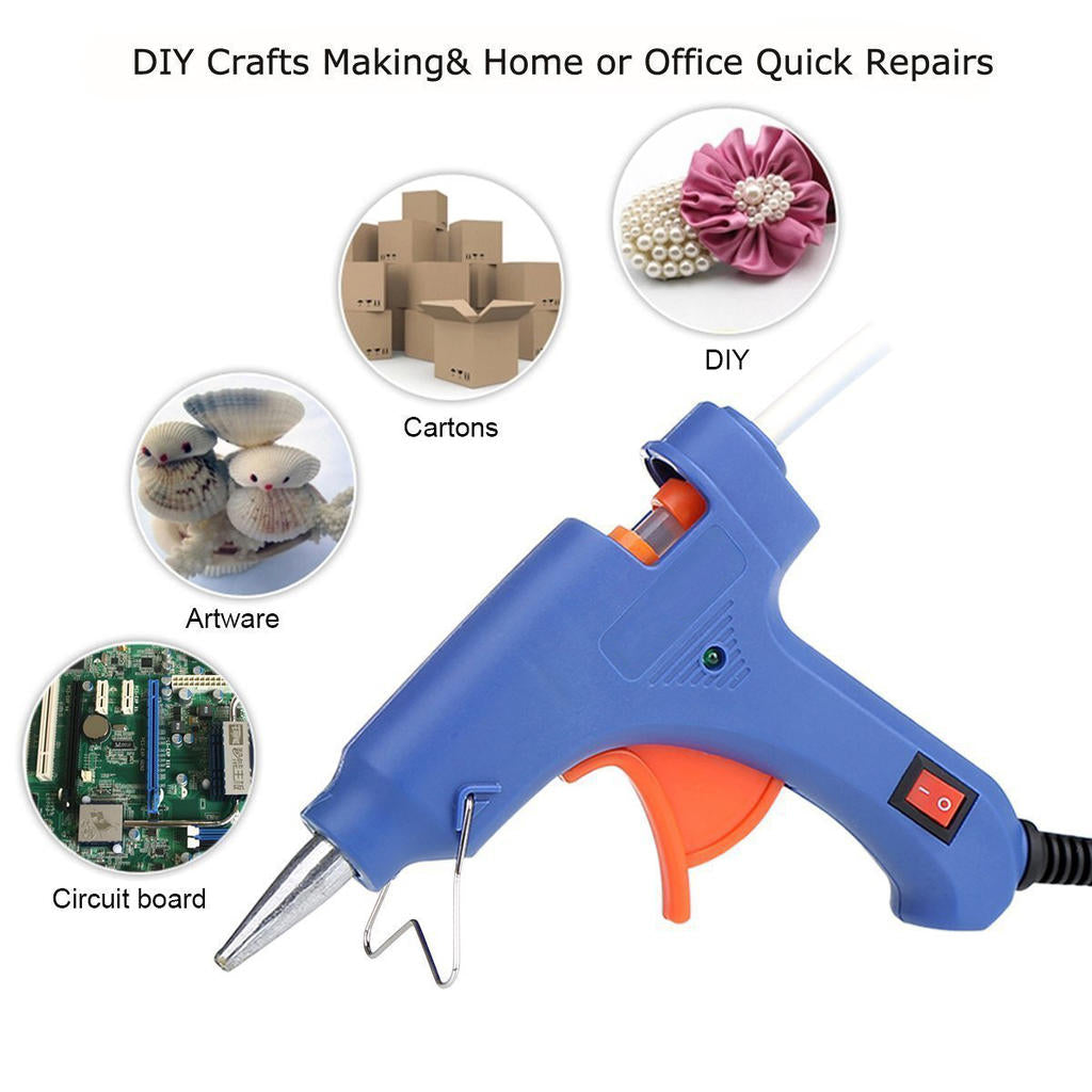 Plastic Glue Gun Lightweight Rapid Heating Save Energy For Diy Crafts Projects | Edlpe