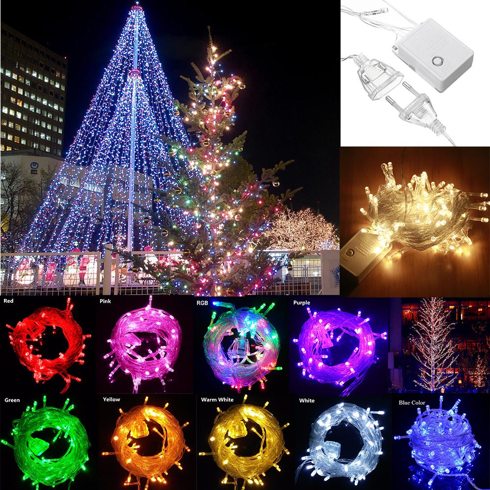 Fairy Garland Led Strip String Lights Waterproof Tail Plug House Decor/100 10M | Edlpe