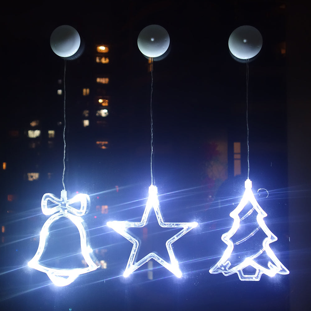 Waterproof Led Curtain Light Battery Operated Suction Cups Indoor Festival Christmas Party Decor | Edlpe