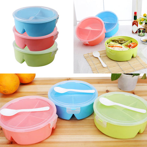 Meal Healthy Plastic Microwave Spoon Food Container Home School Bento Box Owl Lunch | Edlpe