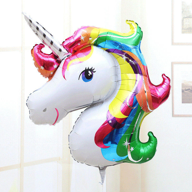 33 Unicorn Rainbow Foil Balloon Children Birthday Party Decor Kid Gift | Edlpe