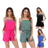 Image of Summer Women Beach Casual Sleeveless Strappy Short Jumpsuit Rompers Plus Size | Edlpe
