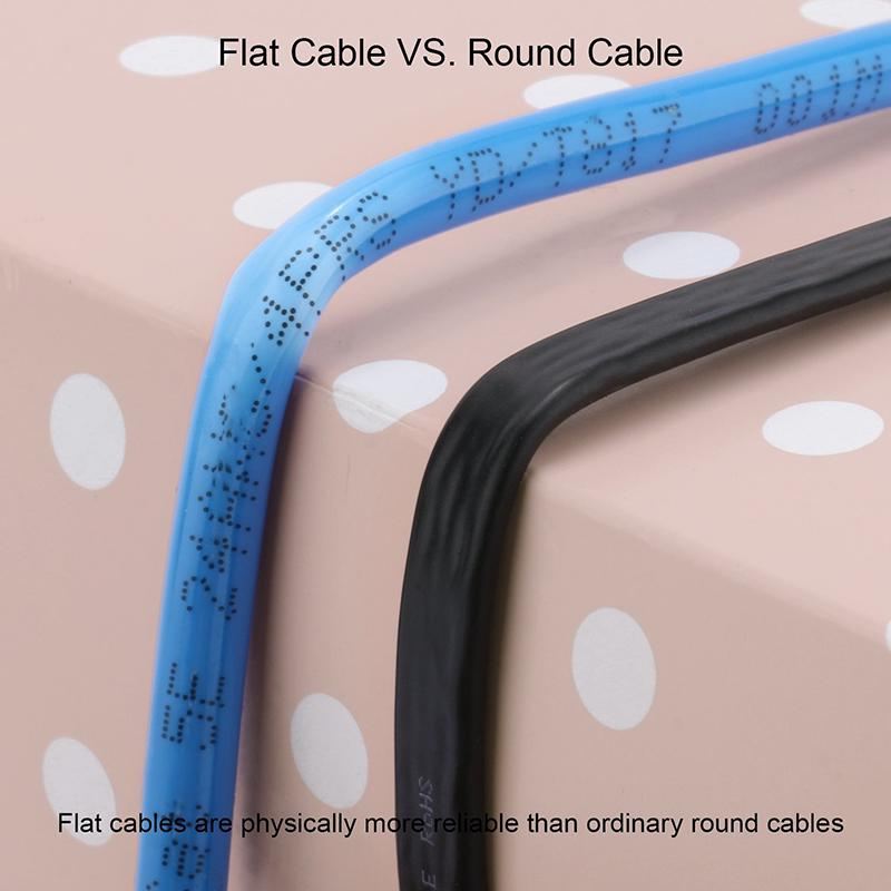 Cat7 Wire Shielded Stp Flat Ethernet Cable Gigabit Patch Cable | Edlpe