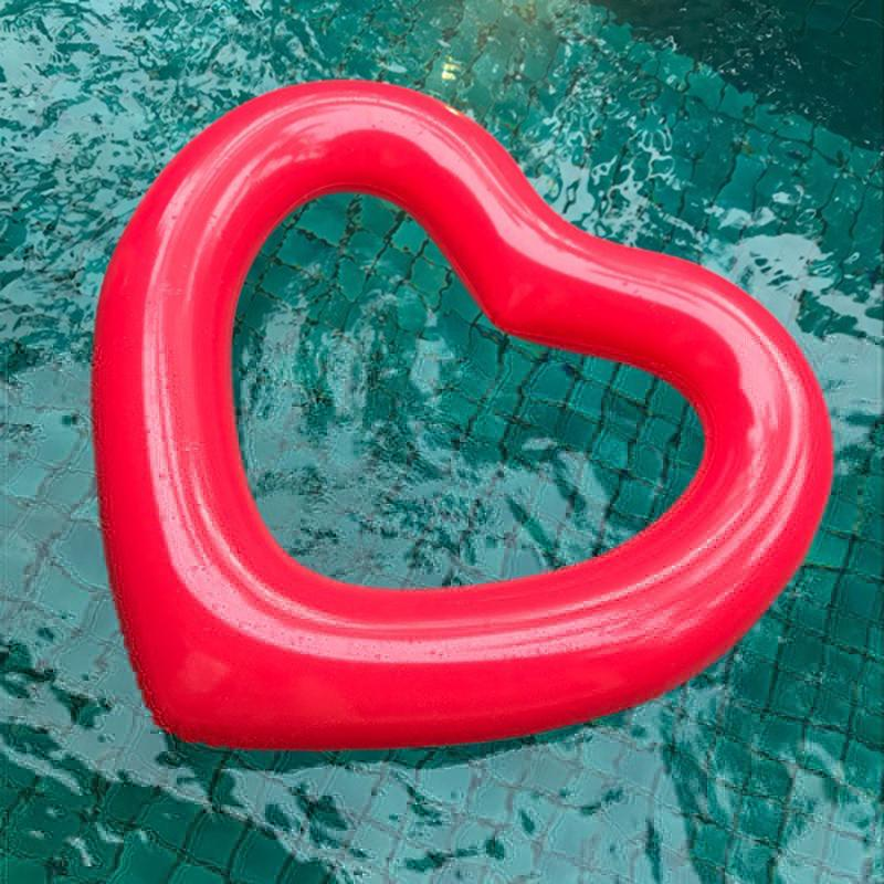 Giant Inflatable Heart Pool Float Jumbo Water Raft Swimming Summer Floating | Edlpe