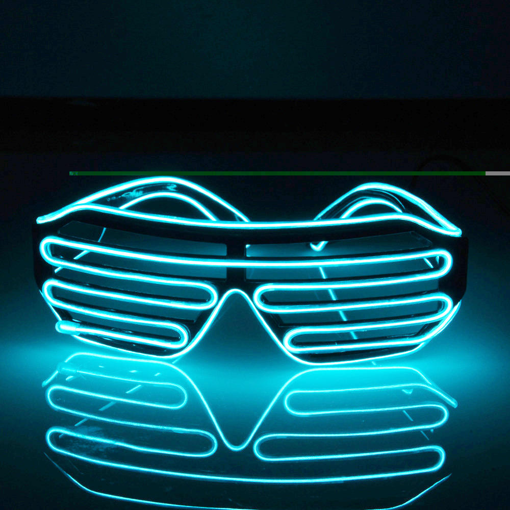 El Wire Light Up Glow Window-Shades Led Safety Music Sound Control Glasses | Edlpe