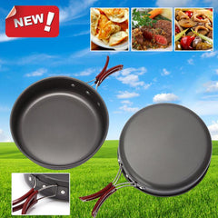 Camping Pan Portable Outdoor Cookware Aluminum Non-stick Pan Cooking Frying Pan