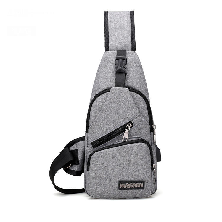 Usb Design Sling Handbag Crossbody Drop Shipping Charging Chest Bag | Edlpe