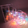 Image of Waterproof Led Silver Copper Wire Fairy String Light Battery Powered Party Decoration | Edlpe