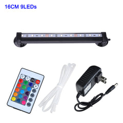 Waterproof Air Bubble Lamp Remote Control Led Aquarium Fish Tank Light/16Cm 26Cm 31Cm 46Cm 5050 Rgb | Edlpe
