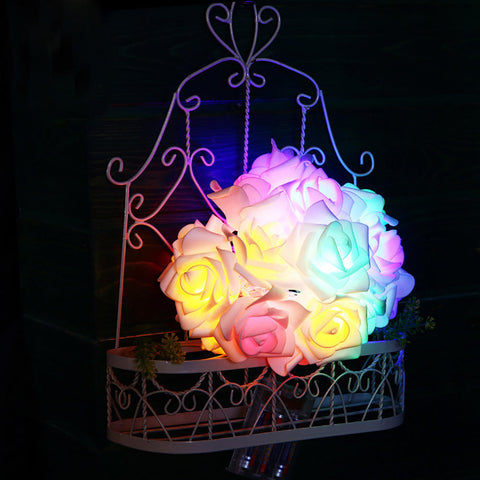 1.2M 10 Led Battery Rose Flower String Light For Wedding Birthday Valentines Day Decoration | Edlpe