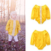 Image of Autumn Fashion Newborn Baby Girls Clothes Romper Long Sleeve Triangle Jumpsuit Toddler Girl Clothing | Edlpe