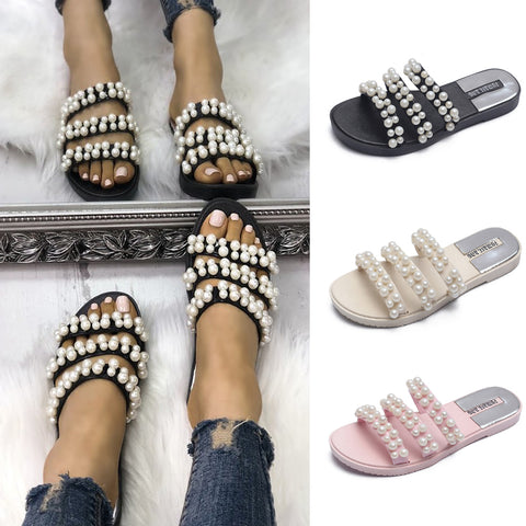 Summer Women Leather Slippers Flats Beach Casual Outdoor&indoor Slippers | Edlpe