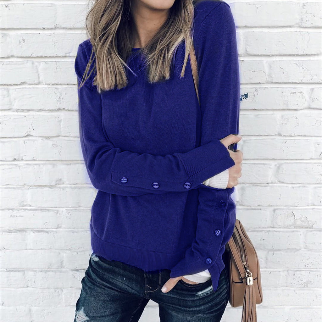 Women Long Sleeve Shirts Blouse Sweater Ladies Sweatshirt Jumper Pullover Tops | Edlpe