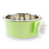 Image of Pet Dog Cat Bowl Can Hang Stationary Dog Cage Bowl Stainless Steel Hanging Bowl | Edlpe
