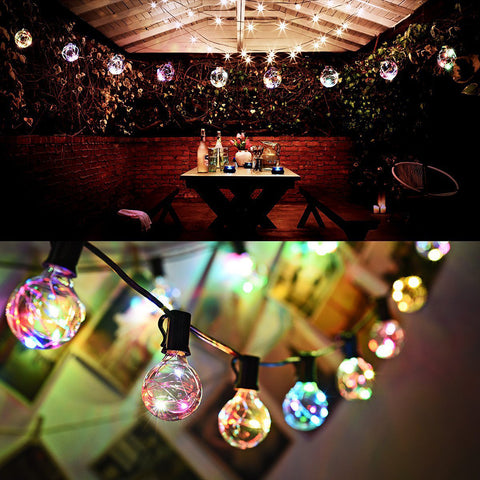 G40 Globe Bulbs String Lights For Indoor Outdoor Patio Cafe Wedding Party Home Christmas Decor | Edlpe
