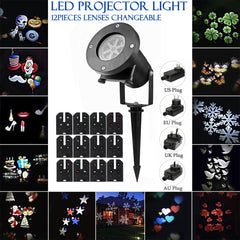 12 Patterns LED Projector Landscape Lamp Remote Control Waterproof Perfect for Halloween Christmas