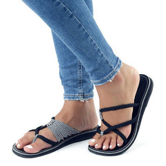 Women Summer Flat Sandals Casual Flip-flop Sandals Femme Beach Outdoor Slippers