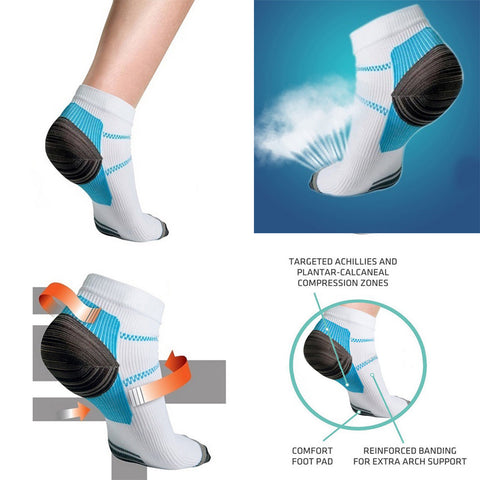 Plantar Fasciitis Compression Socks Heel Foot Arch Pain Arthritis Relief Support Plantar Arch Pain | Edlpe