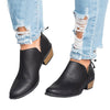 Image of Fashion Women Pu Leather Low Heel Ankle Boots Casual Slip On Sandals Flats Shoes | Edlpe